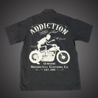 Bikers Work Shirt - Riding Skull