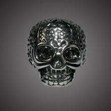 Ring - Skull With Blk Gem Eyes