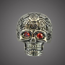 Ring - Red Eyes Skull
